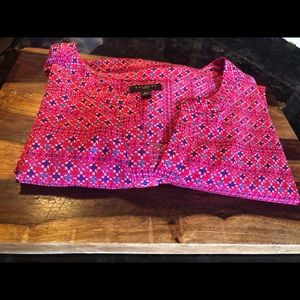 Talbots Tunic Long Sleeve Half Button Blouse